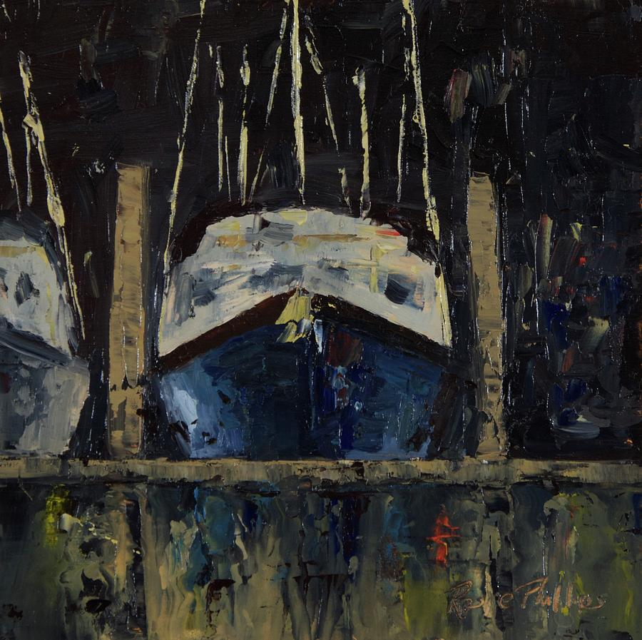 Nautical Nocturne Painting by Rosie Phillips