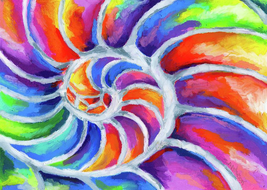 Nautilus Curves Painting