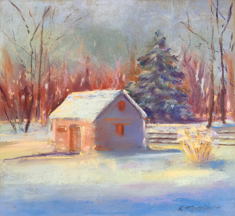 Nauvoo winter scene by Rebecca Matthews
