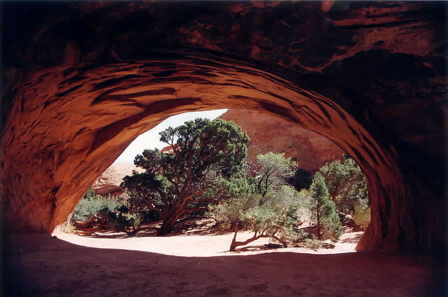 Utah Photograph - Navajo Arch by Kathy Schumann