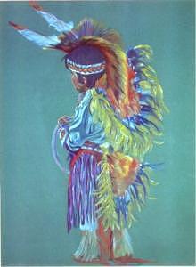 Navajo Hoop Dancer Painting by Margaret A Clark Price
