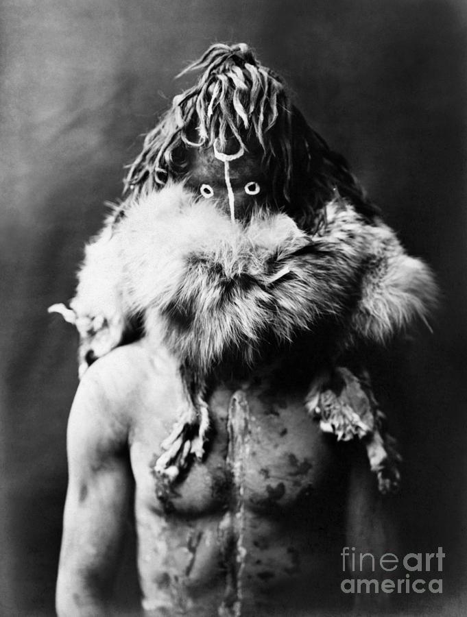 1905 Photograph - Navajo Mask, C1905 by Granger