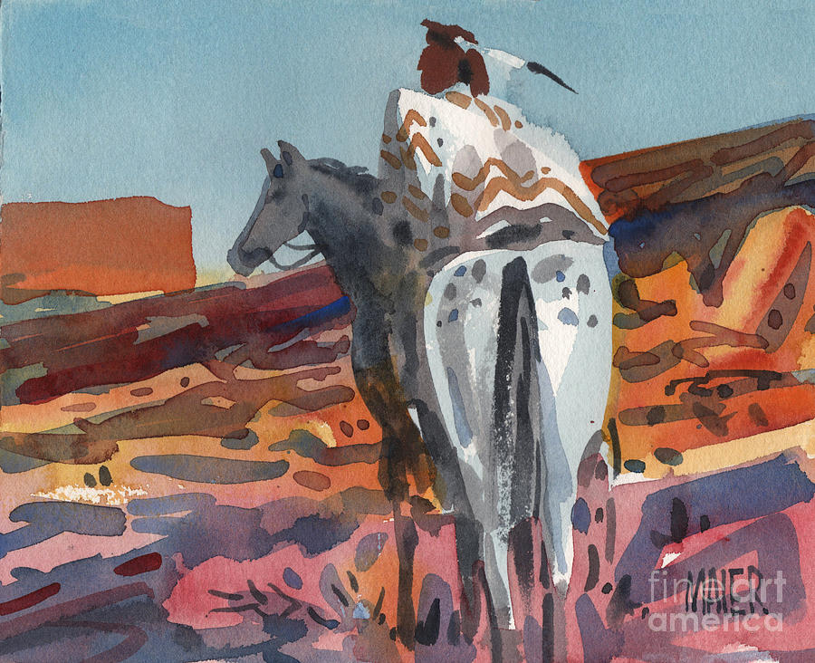 Equestrian Painting - Navajo Rider by Donald Maier