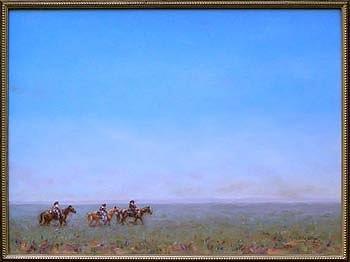 Navajo Painting - Navajo Riders Of The Purple Sage by Karl Eric Leitzel