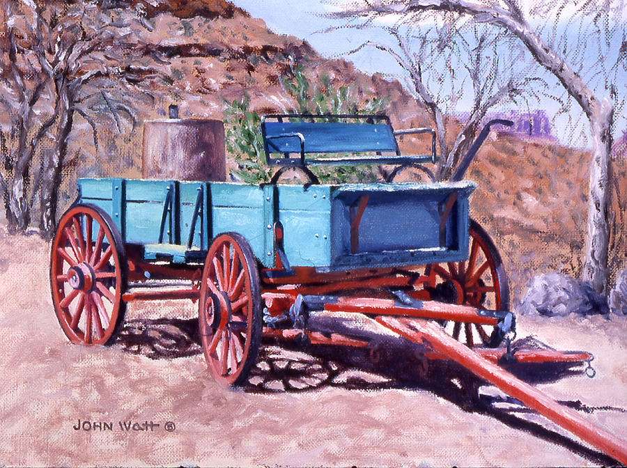 Navajo SUV Painting by John Watt