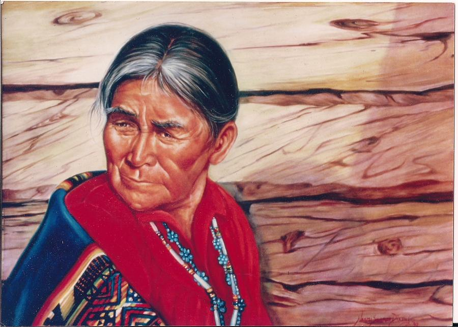 Native American Painting - Navajo Woman by Naomi Dixon