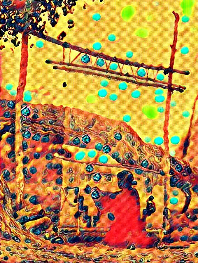 Navajo Woman Weaving 1 Painting