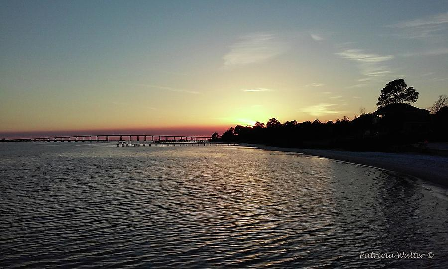 Sunset Photograph - Navarre Florida Sunset by Patricia Walter