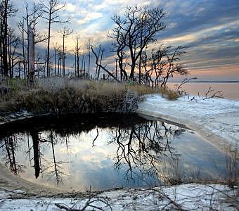 Landscape Photograph - Navarre Pond by Eszra Tanner