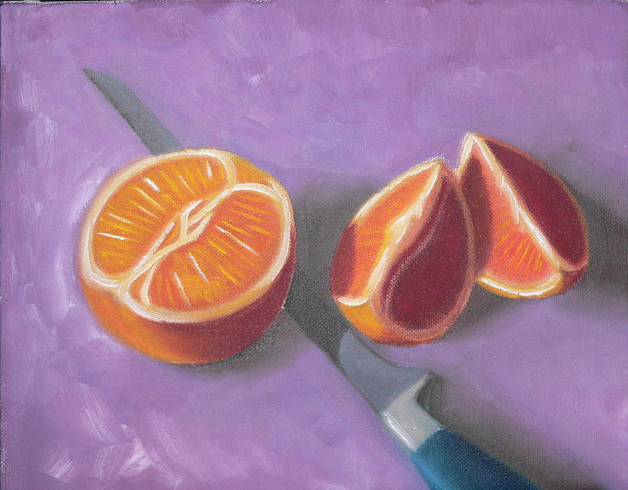 Still Life Painting - Navel And Knife by Bart  Dluhy