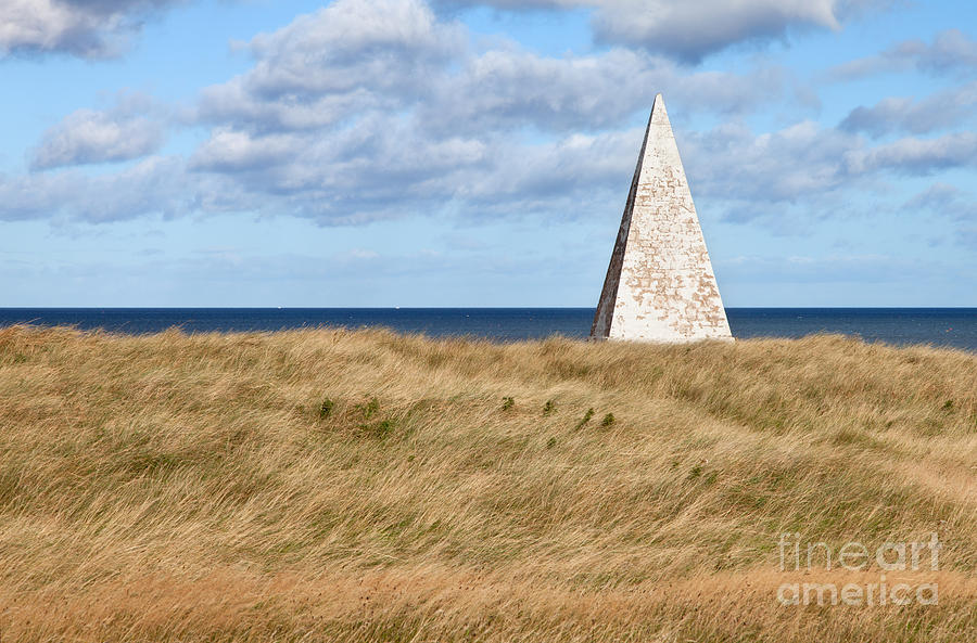 19th Century Photograph - Navigation Daymark - Lindisfarne by Bryan Attewell