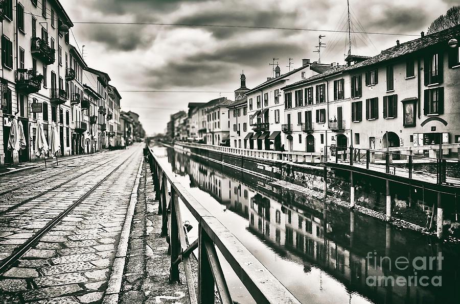 Naviglio Photograph - Naviglio by Alessandro Giorgi Art Photography