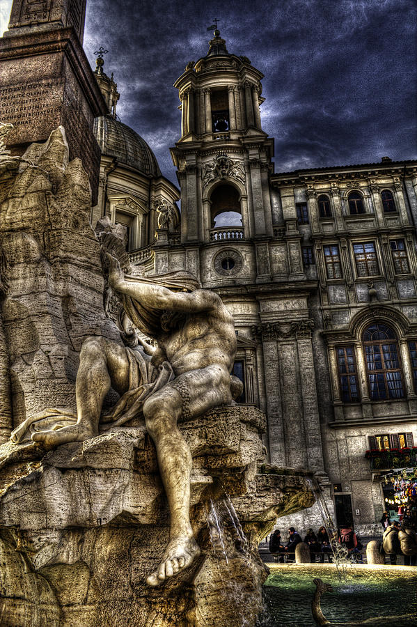 Rome Photograph - Navona 1 by Brian Thomson