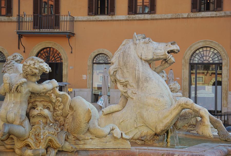 Italy Photograph - Navona Fountain by JAMART Photography