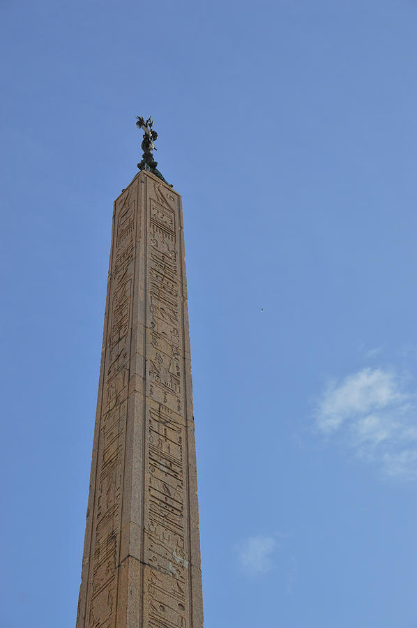 Italy Photograph - Navona Dove Obelisk by JAMART Photography
