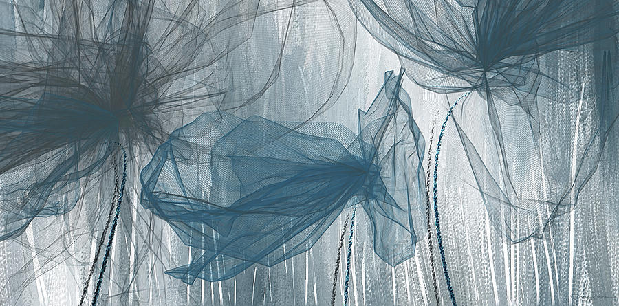 c9aebc7fc1c Light Blue Painting - Navy And Gray Abstract - Navy Blue And Gray Modern Art  by