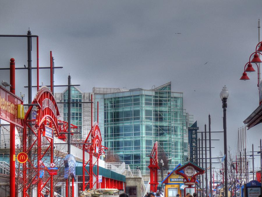 Navy Pier Digital Art - Navy Pier by Barry R Jones Jr