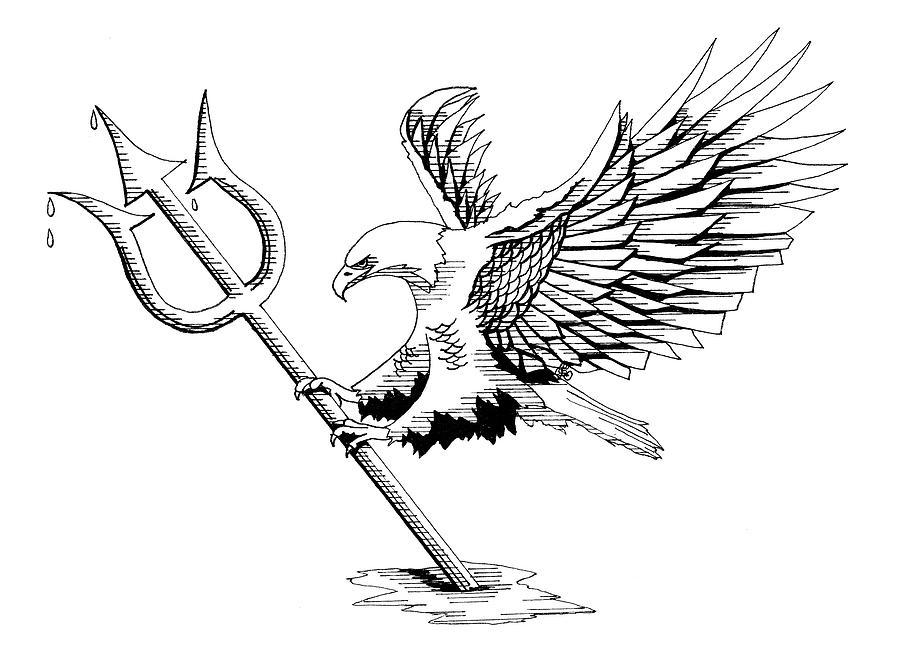 Bald Eagle Drawing - Navy Seals by Scarlett Royal
