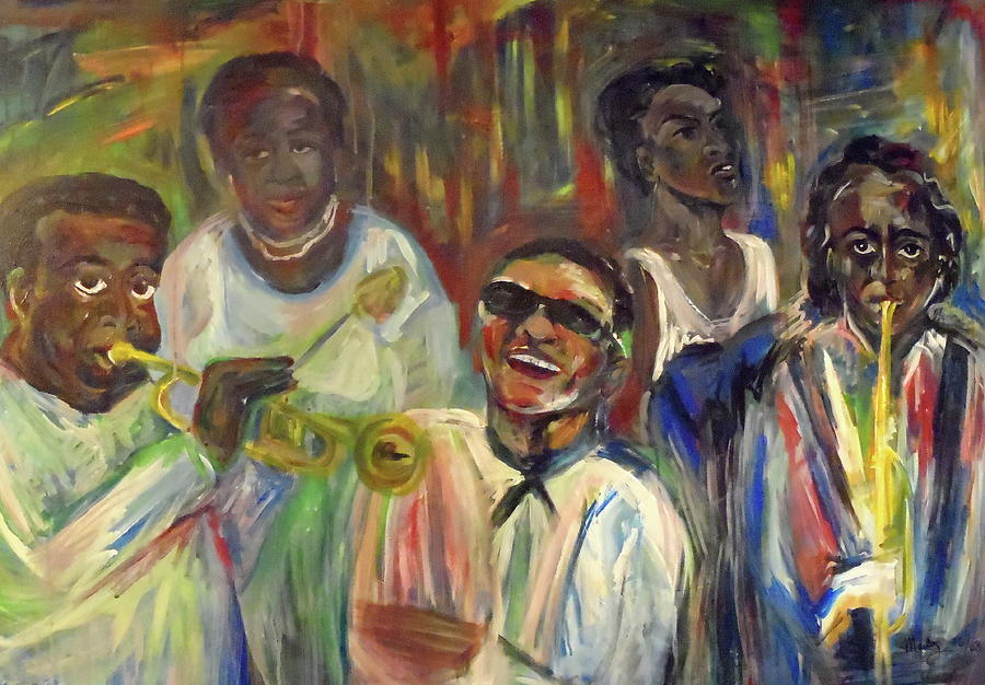 Jazz Painting - Nawlins Jazz by Made by Marley