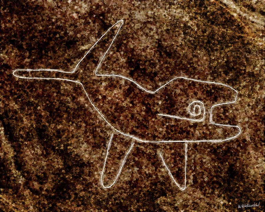 Nazca Painting - Nazca Killer Whale by Weston Westmoreland