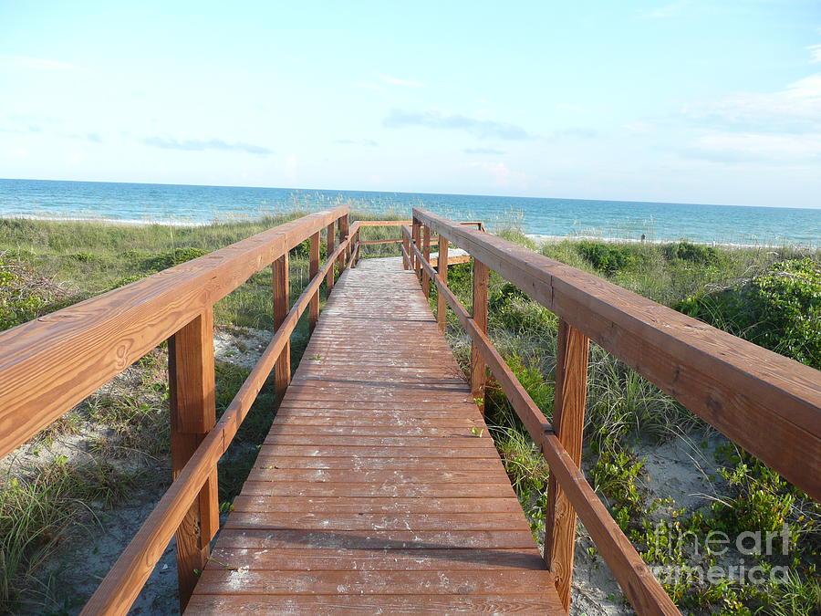 Boardwalk Photograph - Nc Beach Boardwalk by Barb Montanye Meseroll