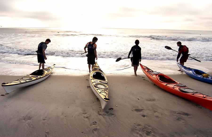 Kayaker Photograph - Nc Kayakers  by Robert Ponzoni