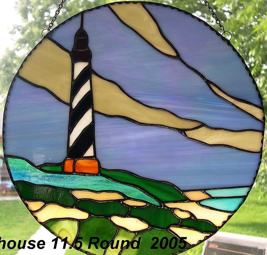 Lighthouse Glass Art - Nc Light House by Liz Lowder