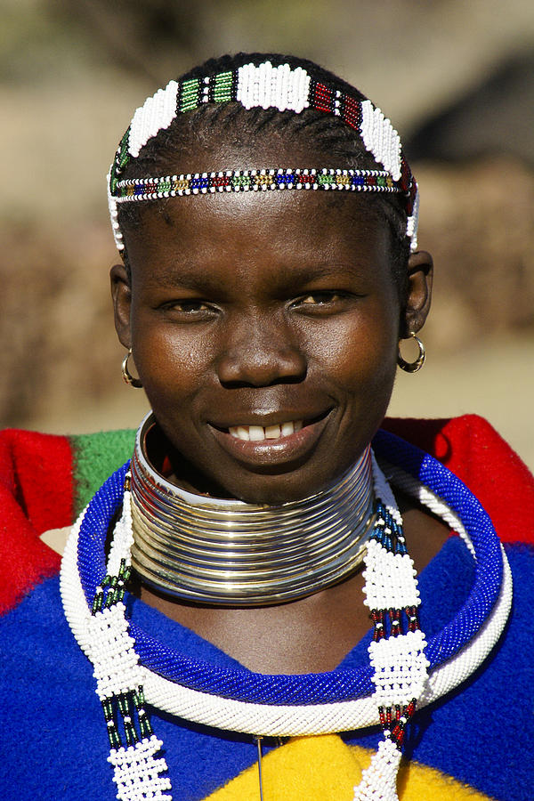 Africa Photograph - Ndebele Maiden by Michele Burgess