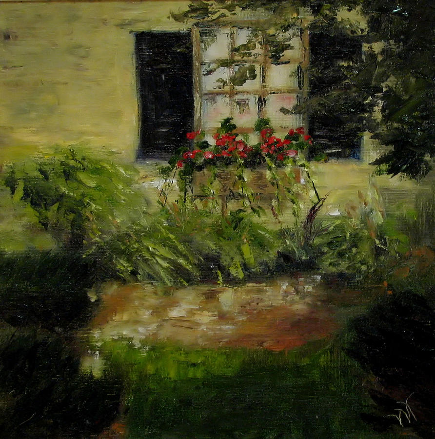 Window Box Painting - Neals Path by Wendie Thompson