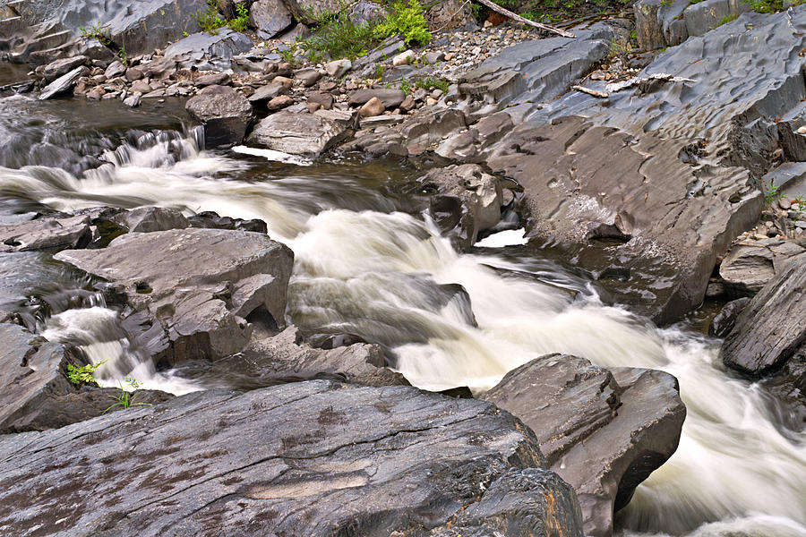 Rock Photograph - Near Barrow Falls by Peter J Sucy