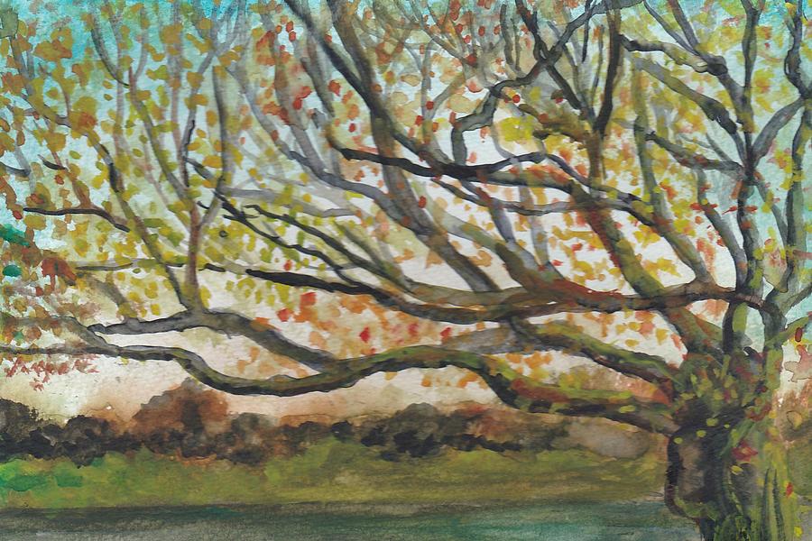 Landscape Painting - Near Fletchers Boathouse by Lin-Lin Mao