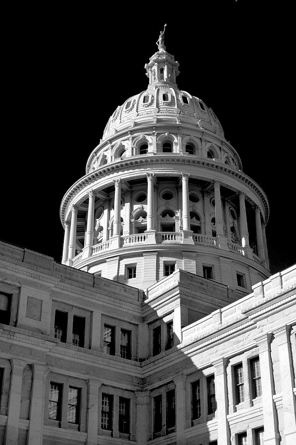 Gothic Photograph - Near Infrared Image Of The Texas State Capitol by David Thompson