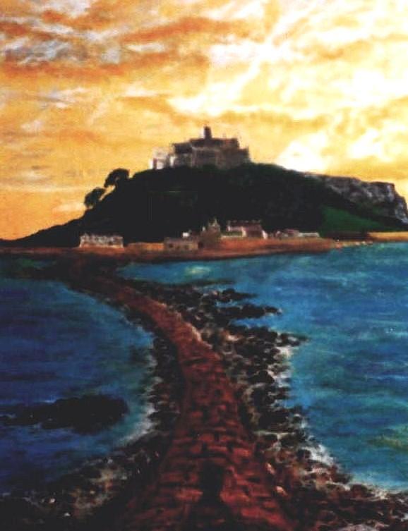 Beaches Painting - Near Penzance St. Michaels Mount by Richard Hubal