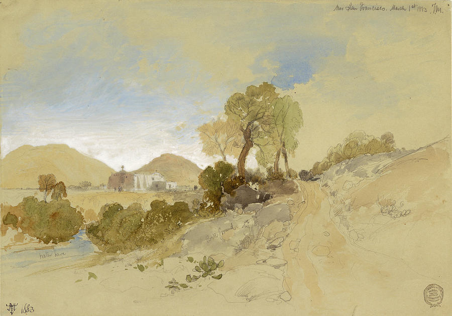 Thomas Moran Drawing - Near San Francisco, Mexico, March 1, 1883 by Thomas Moran