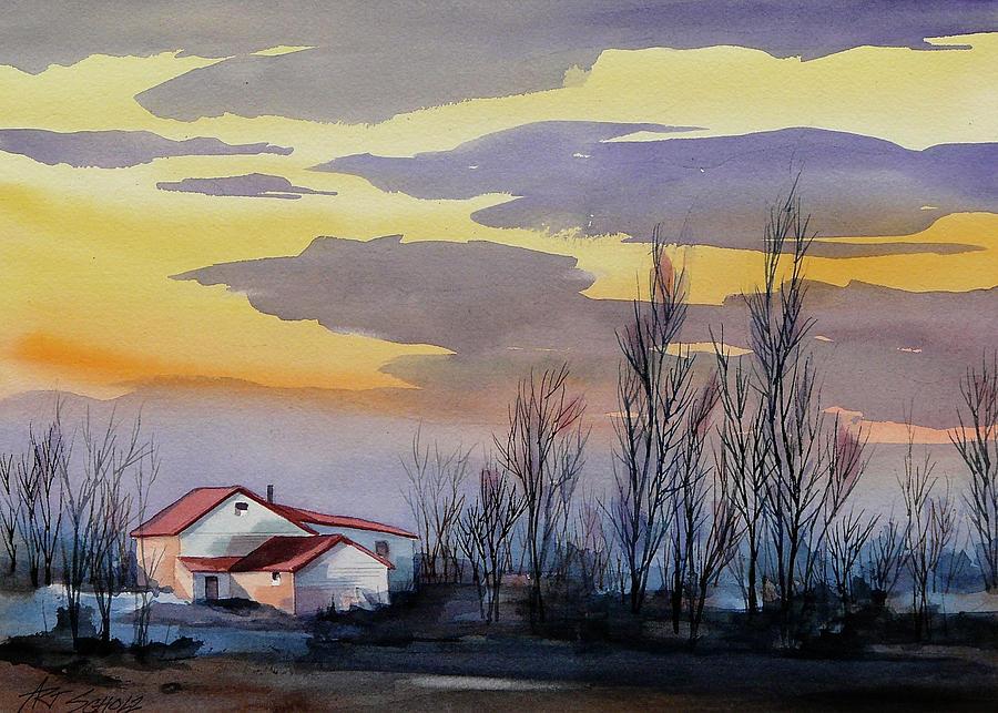Near Sundown Painting by Art Scholz