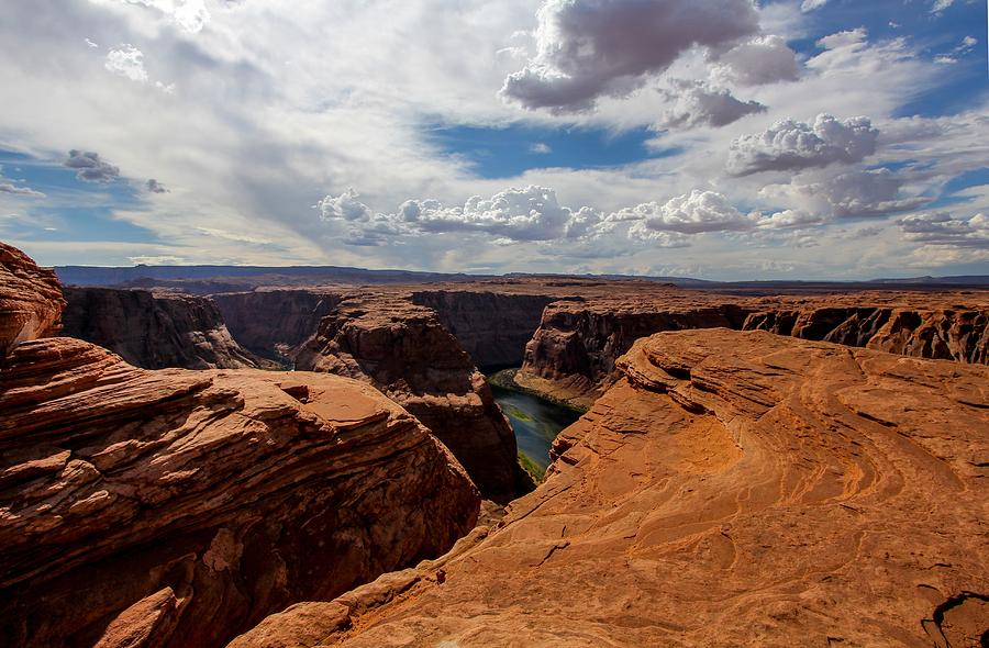Horseshoe Bend Photograph - Near The Edge by Jennifer Ansier
