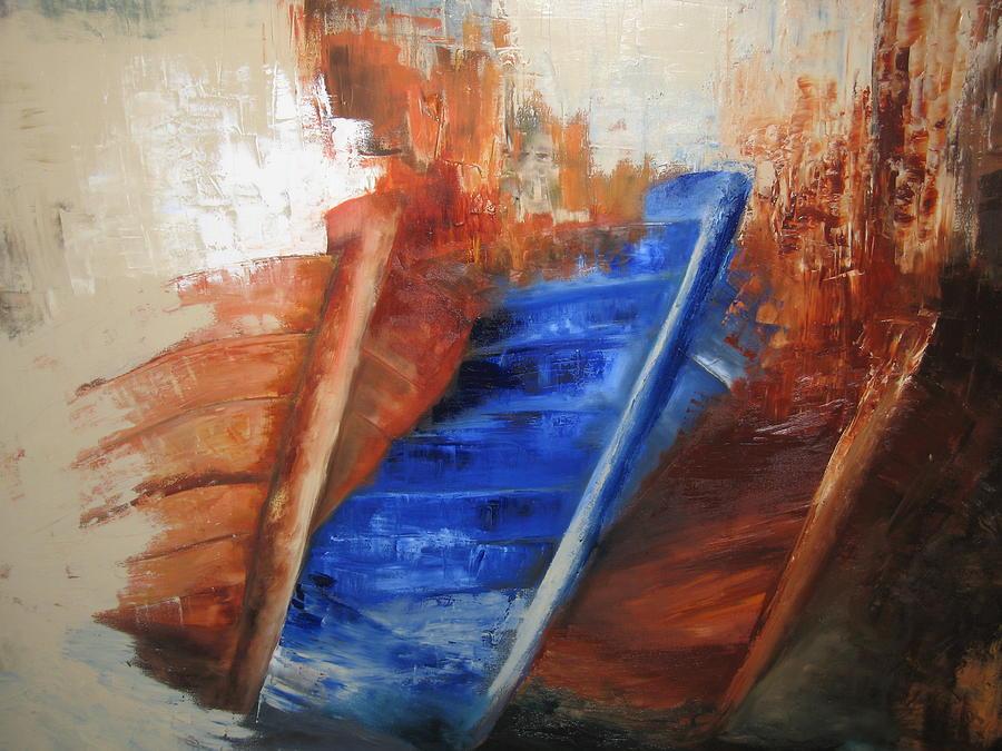 Boats Painting - near The Shore by Marina Harris