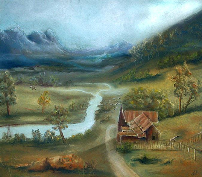 Twilight Painting - Near Twilight by Leonard Aitken