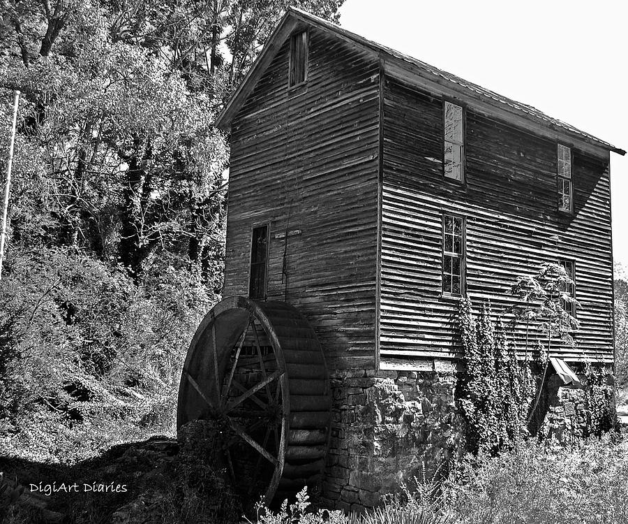 Mill Digital Art - Nearly Forgotten by DigiArt Diaries by Vicky B Fuller