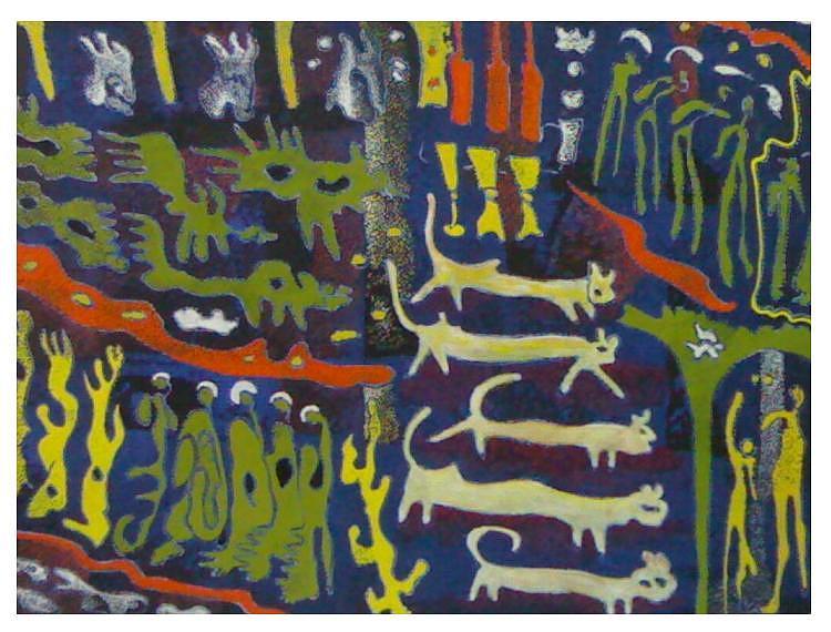 Cats Painting - Neawoo by Ebrahim Fleep