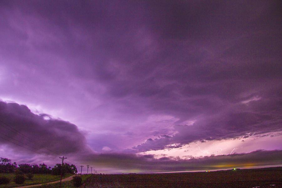 Cloudscape Photograph - Nebraska Night Thunderstorms 008 by NebraskaSC