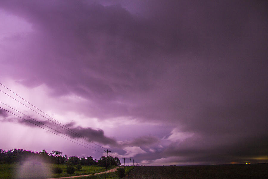 Cloudscape Photograph - Nebraska Night Thunderstorms 010 by NebraskaSC
