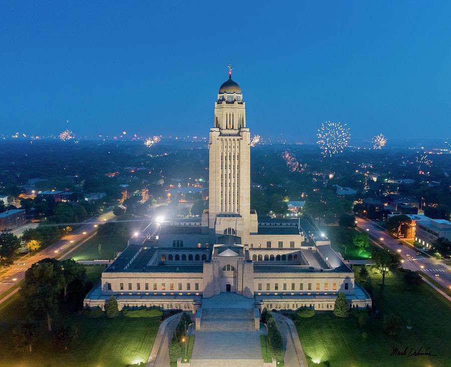Nebraska State Capitol - July 4th by Mark Dahmke