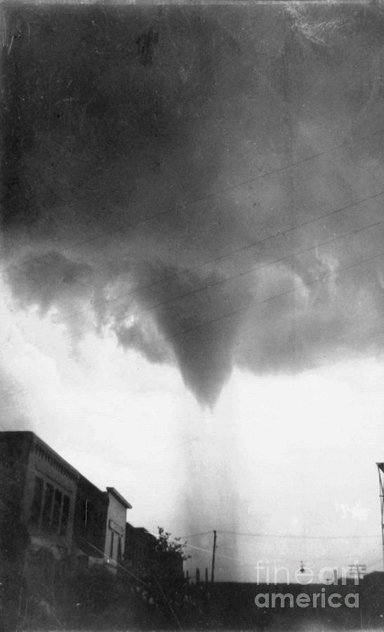 1911 Photograph - Nebraska: Tornado, 1911 by Granger