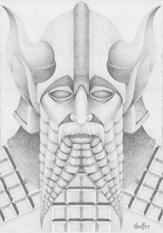 Babylonian Drawing - Nebuchadezzar by Curtiss Shaffer