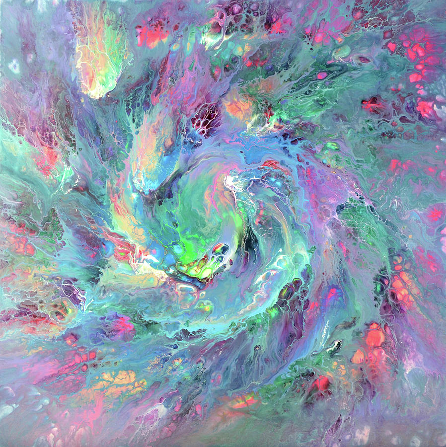 Nebula 2 - Abstract Fluid Painting Painting