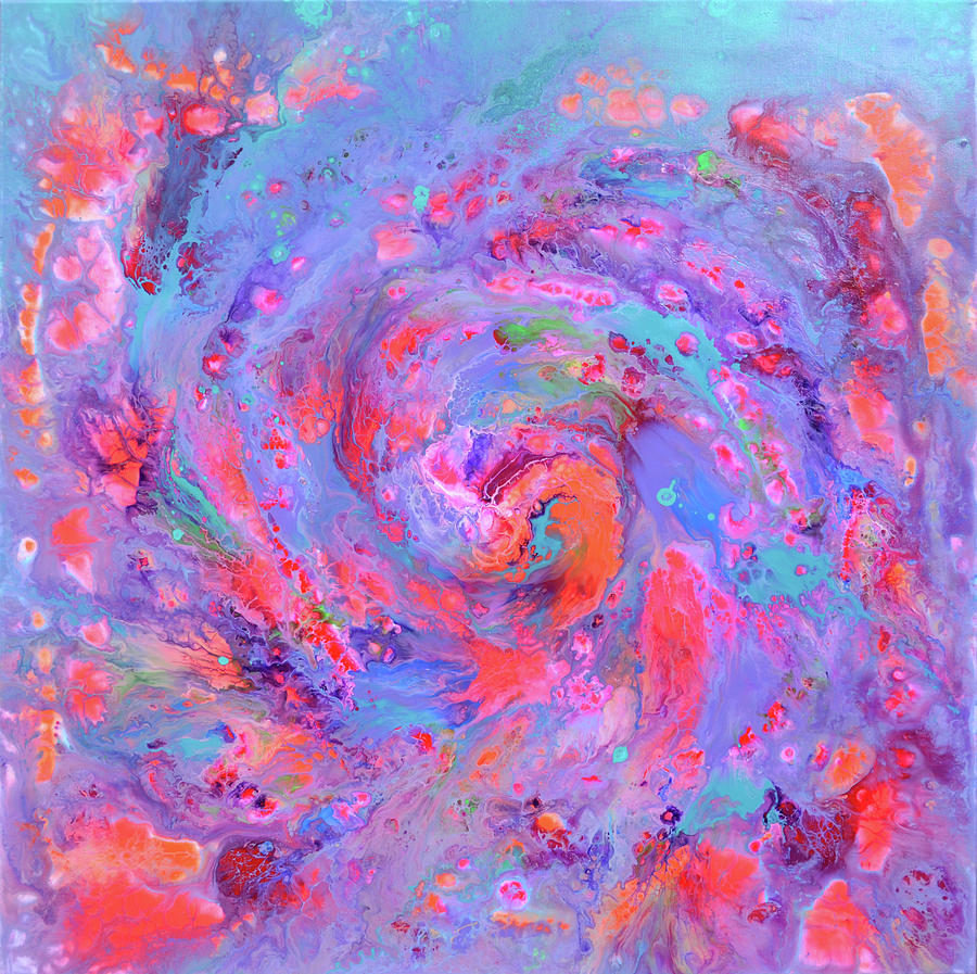 Nebula 5 - Abstract Fluid Painting Painting