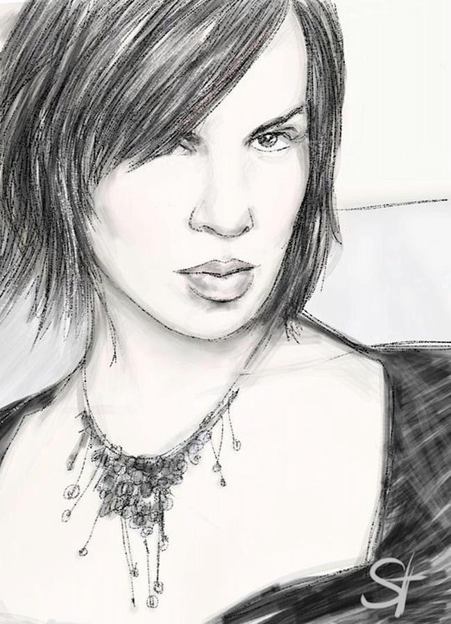 Portrait Digital Art - Necklace by Scott Waters