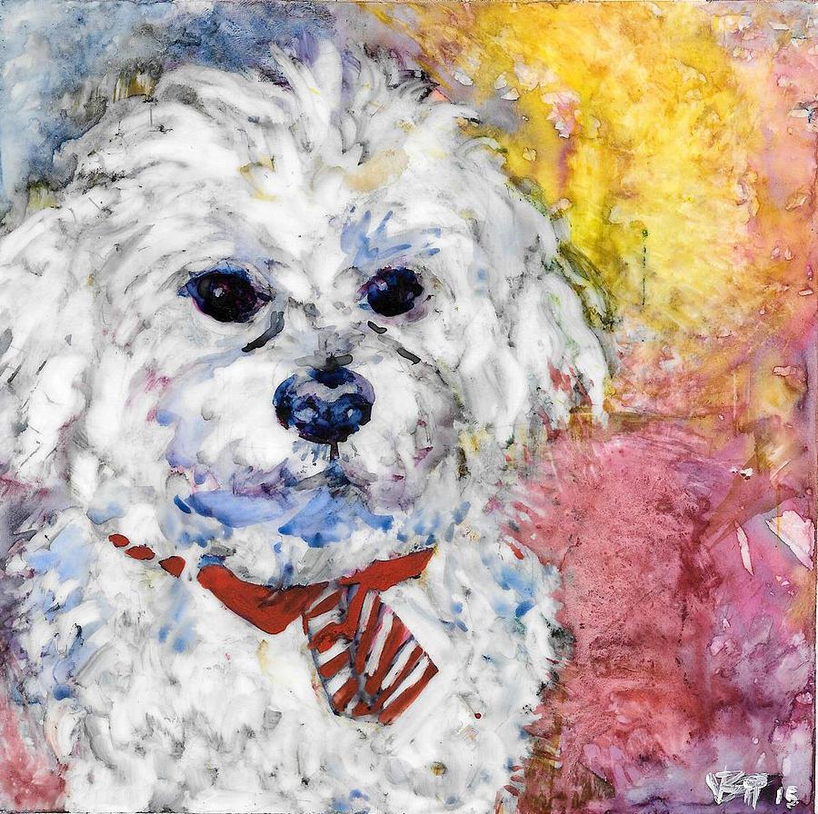 Dog Painting - Necktie by Vanessa Baladad