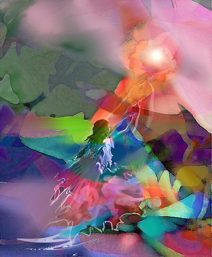 Spiritual Digital Art - Nectar Of Heaven by Tony Macelli